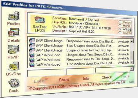 SapPrtg / SAP Sensors for Paessler PRTG (Packages)